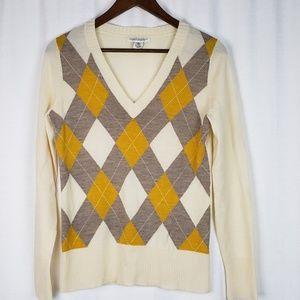 Banana Republic Argyle Merino Wool Sweater Small